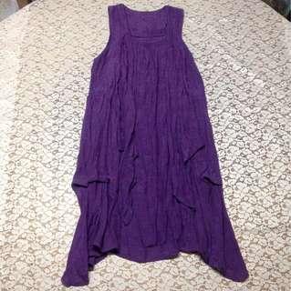DRESS: violet sleeves dress