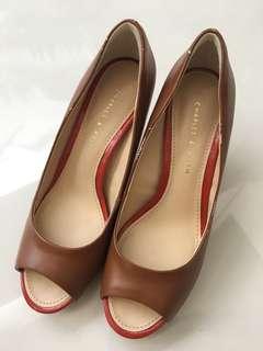 Charles & keith heels brown