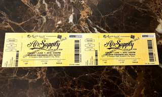 AirSupply Tickets for Later!!