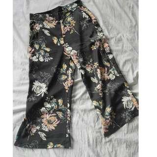 Kimono Fabric Floral Cullotes (Minimal flaws as seen in photos)