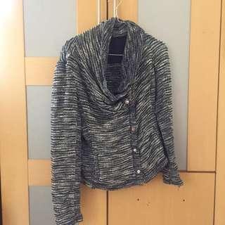 Forever21 knitted assymmetrical blazer