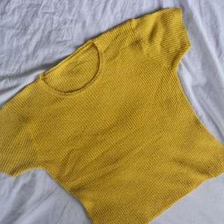 Ribbed Mustard Top (Fits Small to Medium)