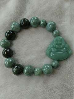 Laughing buddha in Jade bracelet