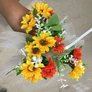 Handmade Car Door Ribbon Artificial Flower
