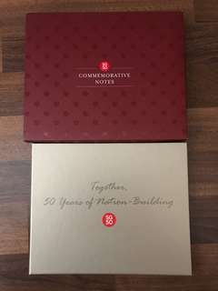 SG 50 commemorative notes holder only