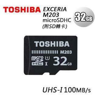 東芝TOSHIBA microSDHC™/microSDXC™ – M203記憶卡 32GB