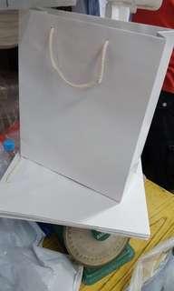 太子店 手工白色手挽紙袋 購物袋 bag