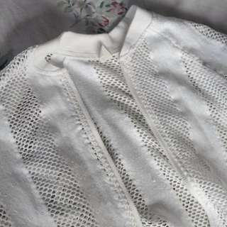 On Trend Mesh Bomber Jacket (Minimal Flaw, See 2nd Photo)