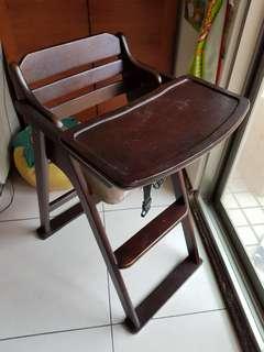 兒童二手實木餐椅