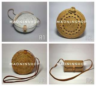 Rattan Bags Avail onhand