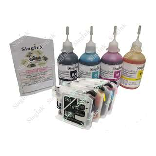 For Brother LC563, 569XL, 565XL/161, 163 Dye Ink 4 Color Kit Set