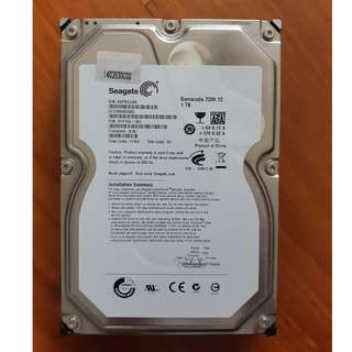 "Seagate 1TB 7200 RPM 3.5"" Desktop HDD"