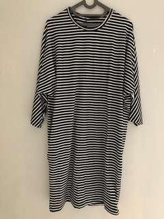 stripes loose dress