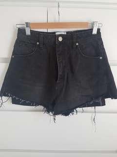 Abrand Black Denim Shorts, Size 26