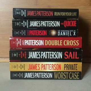 7 paperbacks - James Patterson