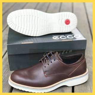 ECCO愛步男士正裝皮鞋頭層牛皮簡約緩震皮鞋伊恩533104面料進口小牛皮內裡墊腳全牛皮搭配雙鞋帶2MD2a