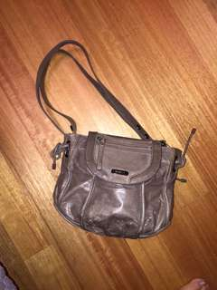 Mimco leather grey bag