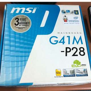 MSI Mainboard G41M-P28 (Stock Clearance)