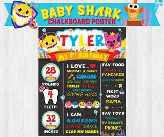 PinkFong Baby Shark Chalkboard Poster
