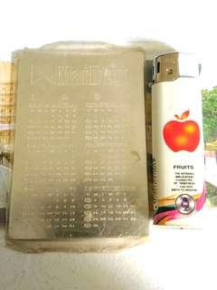 萬寶路 1997年 銀色金屬 年曆咭 年曆卡 一張
