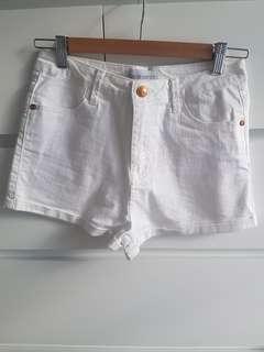Sadie White Denim Shorts