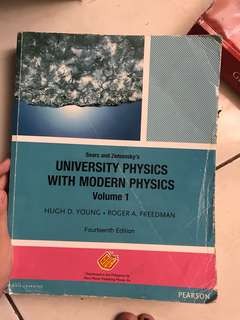 Sear's and Zemansky's University Physics with Modern Physics Volume 1 young and Freedman