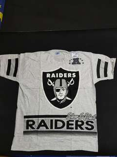 vintage nba nfl nhl mlb 老品 古著 raiders 突襲 短t