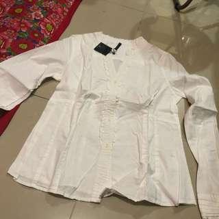 Naf naf white long sleeved top