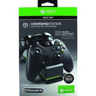 [BNIB] Official Microsoft Licensed Xbox One XB1 PowerA Charging Station with 2x 1100 mAh Rechargeable Battery Packs (Brand New Boxed)