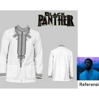 Baju Koko Black Panther Putih