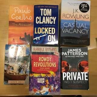 Assorted books/novels