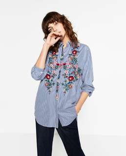 BRAND NEW Zara Floral Embroidered Top (With tag)