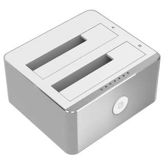 Unitek USB 3.1 to SATA 6G 2.5'' 3.5'' Dual Bay Aluminium Station Hard Drive SSD Dock with Offline Clone Function Y-3027