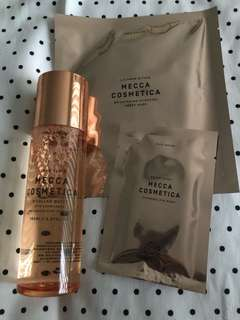 Mecca Cosmetica Micellar water, face and eye mask