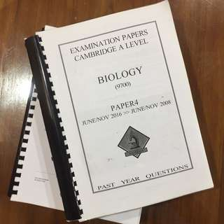 Alevel Biology Past Year Papers (question paper)