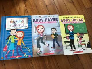 Set of 3 The Amazing Days of Abby Hayes books