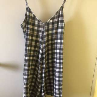 Boohoo Checkered Playsuit