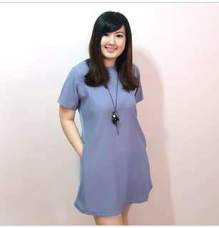 Donatella Shift Dress Lilac Jade