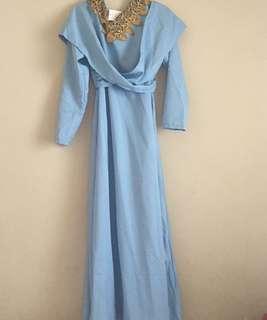 Blue Dress Muslim