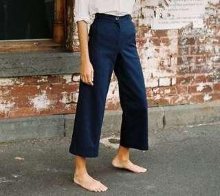 Wide Leg Dark Blue Culottes