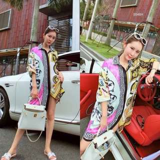 Versace shirt dress; shop