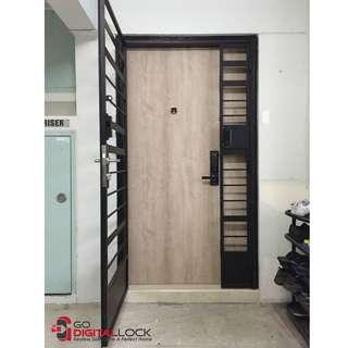 Schlage S-6000 Digital Lock on Main Door + Loghome LH300MG Digital Lock on Metal Gate at $999