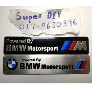 BMW Motorsport motor gp exhaust aluminium sticker