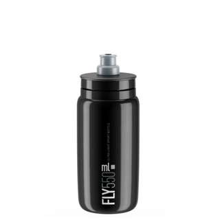 Elite Fly Cycling Bottle 550ml - Black with Grey Logo