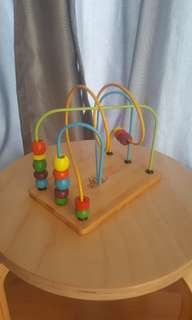 Wooden bead toy for babies