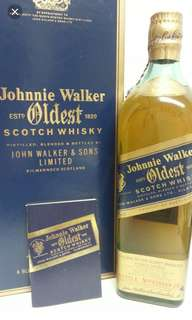 陳年Johnnie Walker Blue Label oldest 750ml with box.