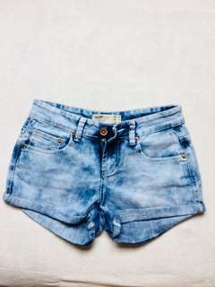 Cotton On Tie Dye Blue Denim Shorts