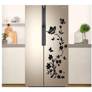 Home Kitchen Appliance Wall Floral Decor Sticker
