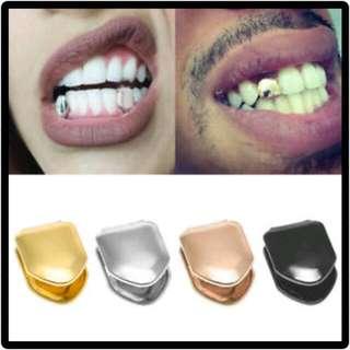 Fake Single Tooth Grillz Gold Cap #listforikea #nogstday