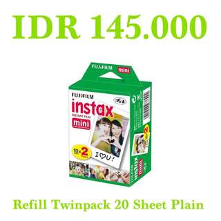 Refill Twinpack Instax Mini Plain 20 Sheet